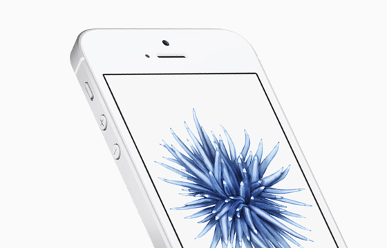 free iphone SE in white