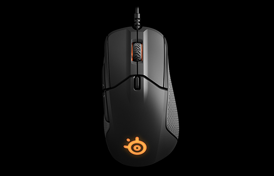 black steelseries mouse